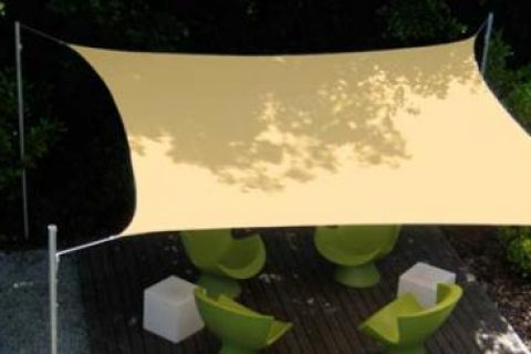 VIERECKIGES SONNENSEGEL 420 x 420 cm HDPE Camel